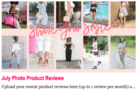 JustFab Brand Ambassadors Site Feature #1