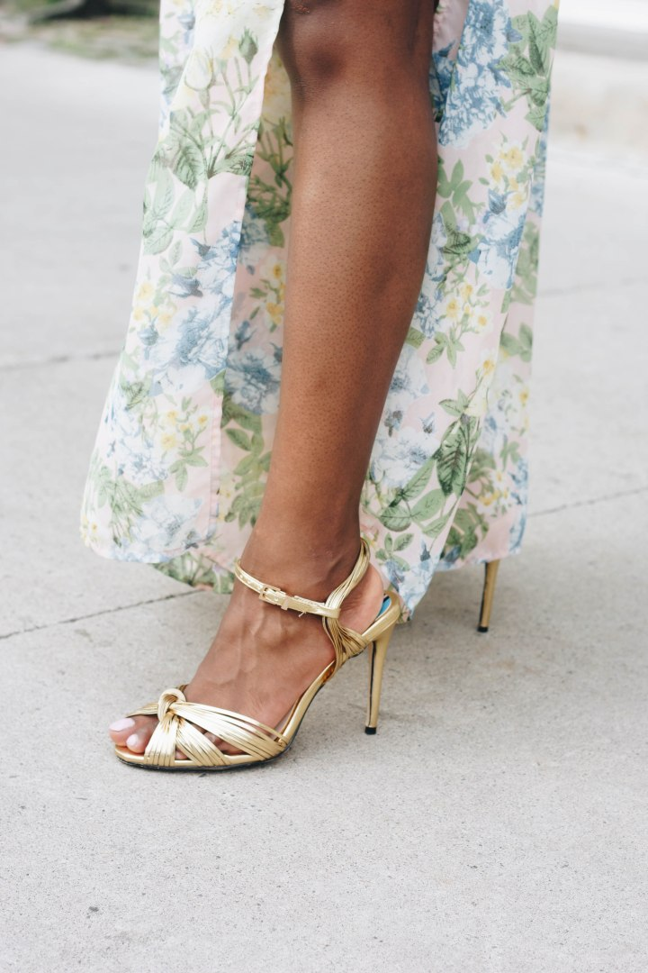 KRISE KNOTTED HEEL SANDALS
